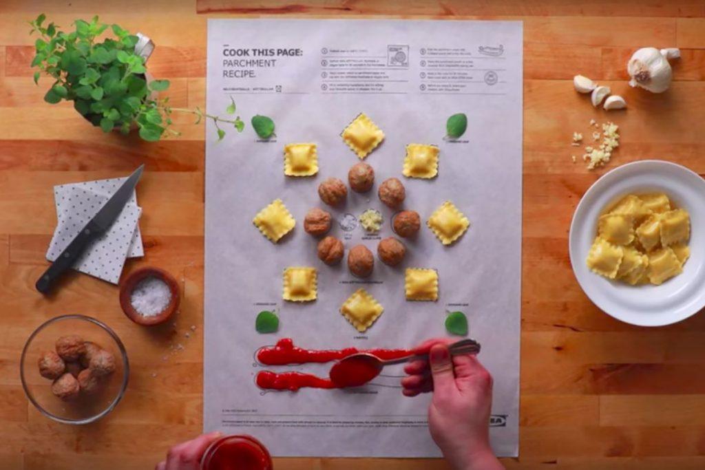 Poster quảng cáo dưới dạng một công thức nấu ăn của IKEA