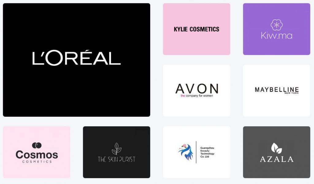 Ứng dụng font chữ trong logo mỹ phẩm